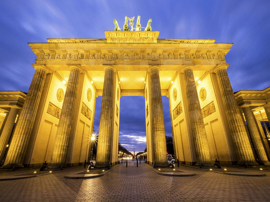 Brandenburg Gate at Night by Terry Hall on 500px.com