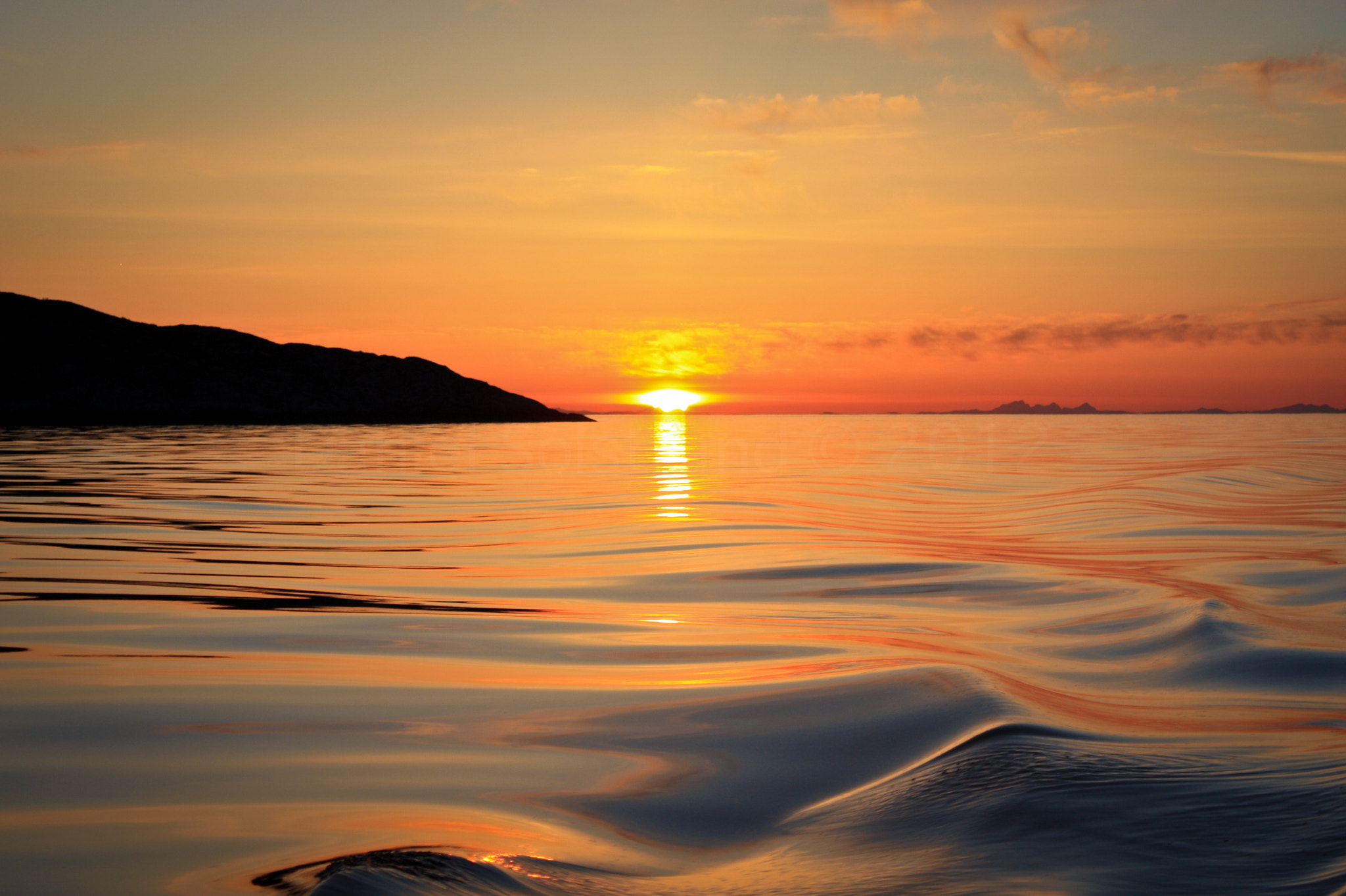 Photograph Ocean view of a sunset by Daniel Solstrand on 500px