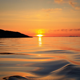 Ocean view of a sunset by Daniel Solstrand (danielsol)) on 500px.com