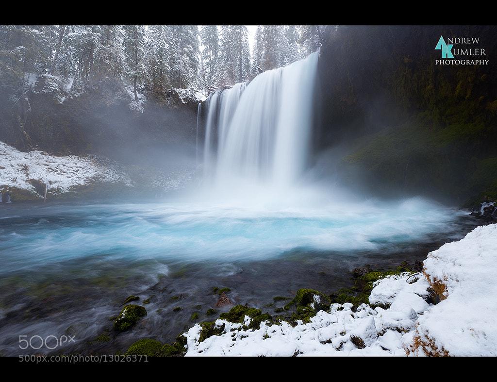 Photograph Koosah Falls in White... by Andrew Kumler on 500px
