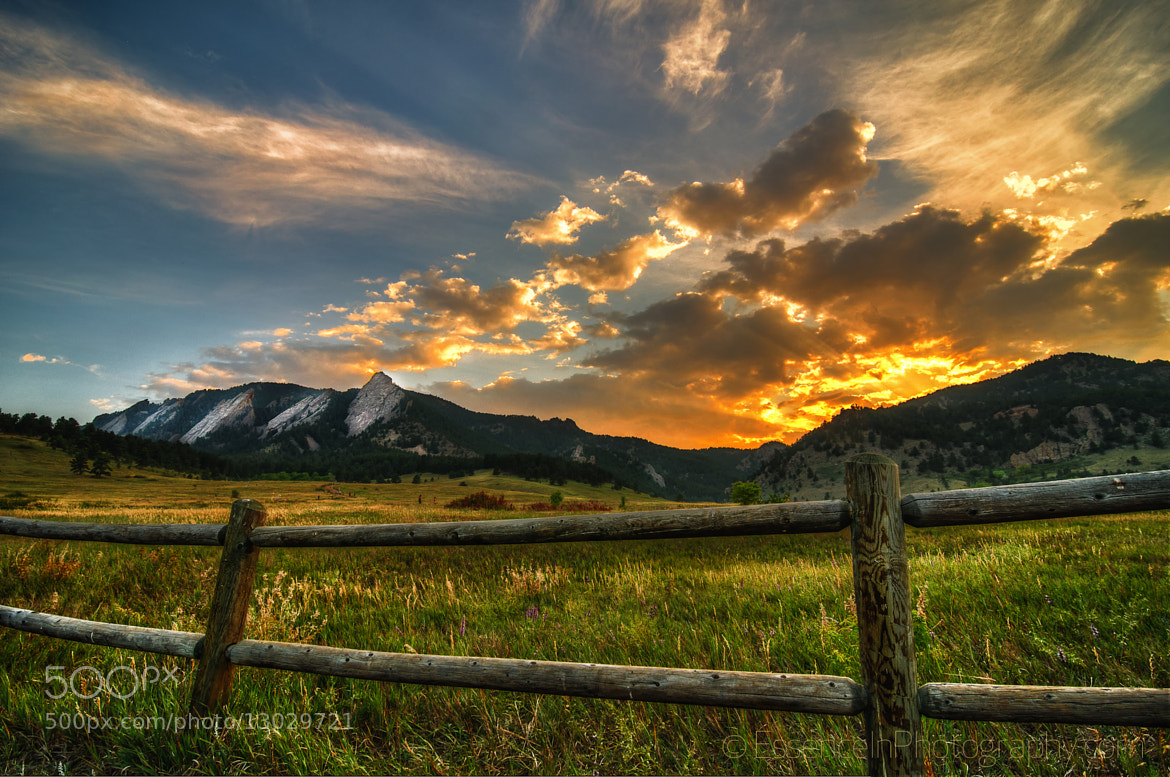 Photograph Flatirons at Sunset - Boulder, Colorado.tif by Captain Photo on 500px