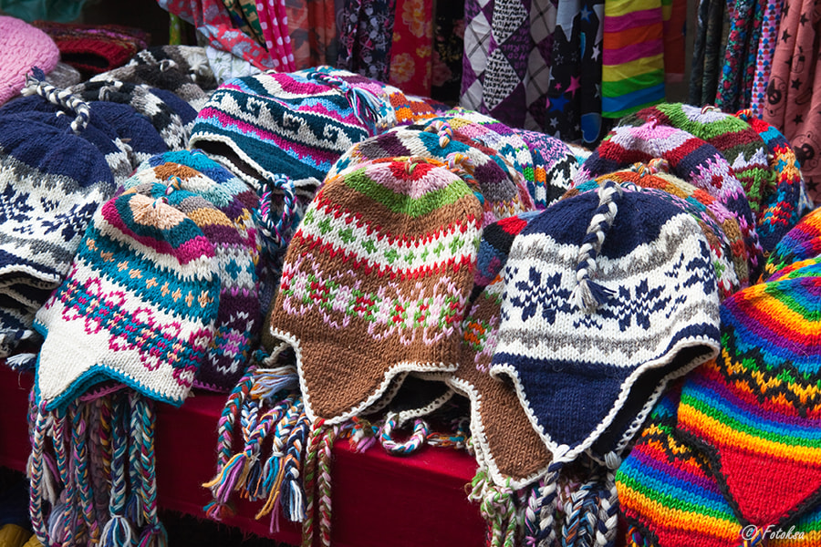 Many multicolored knitted hats by Fotoksa on 500px.com
