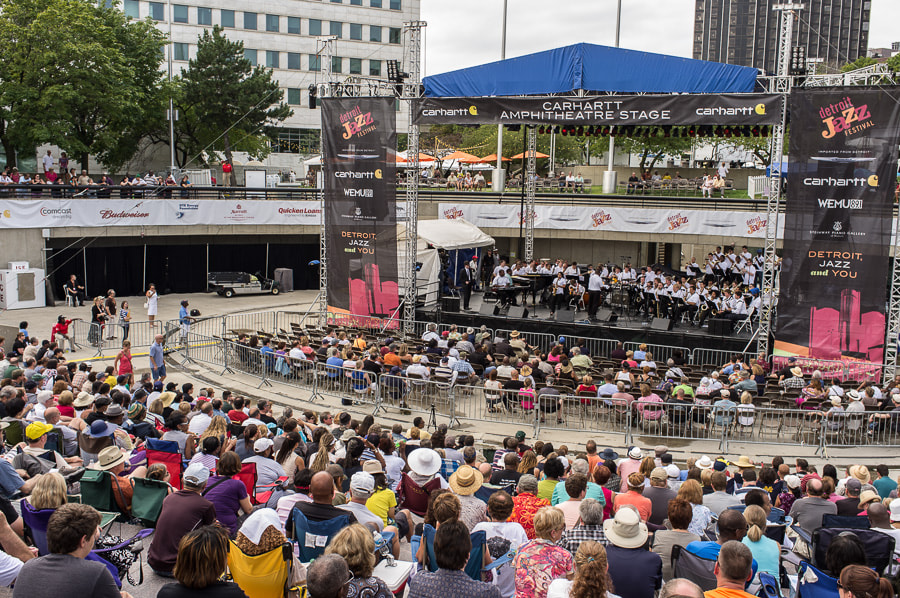 Photograph Detroit High School Jazz Band Carhartt Stage, Hart Plaza by Roy Feldman on 500px