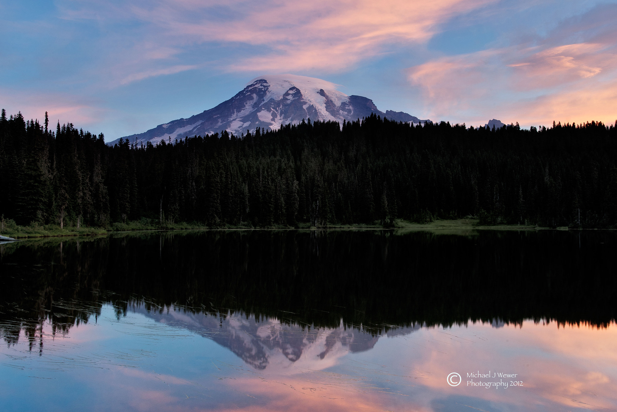 Photograph Reflection Lakes Mount Rainier National Park by Michael Wewer on 500px