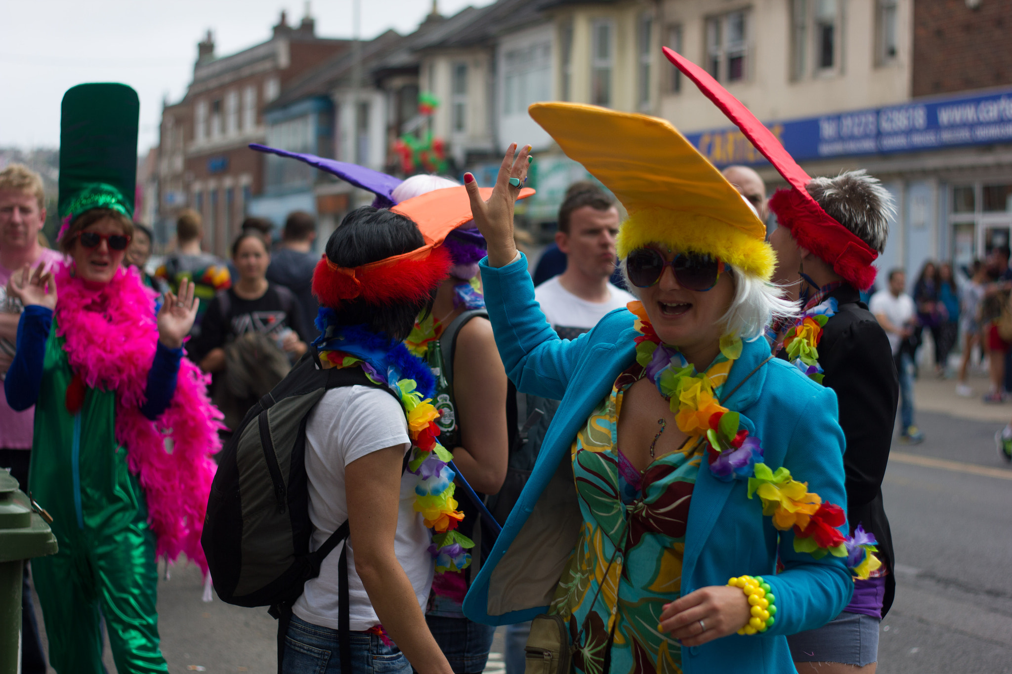 Photograph Brighton Pride: Flattened Hats by Olly Newport on 500px