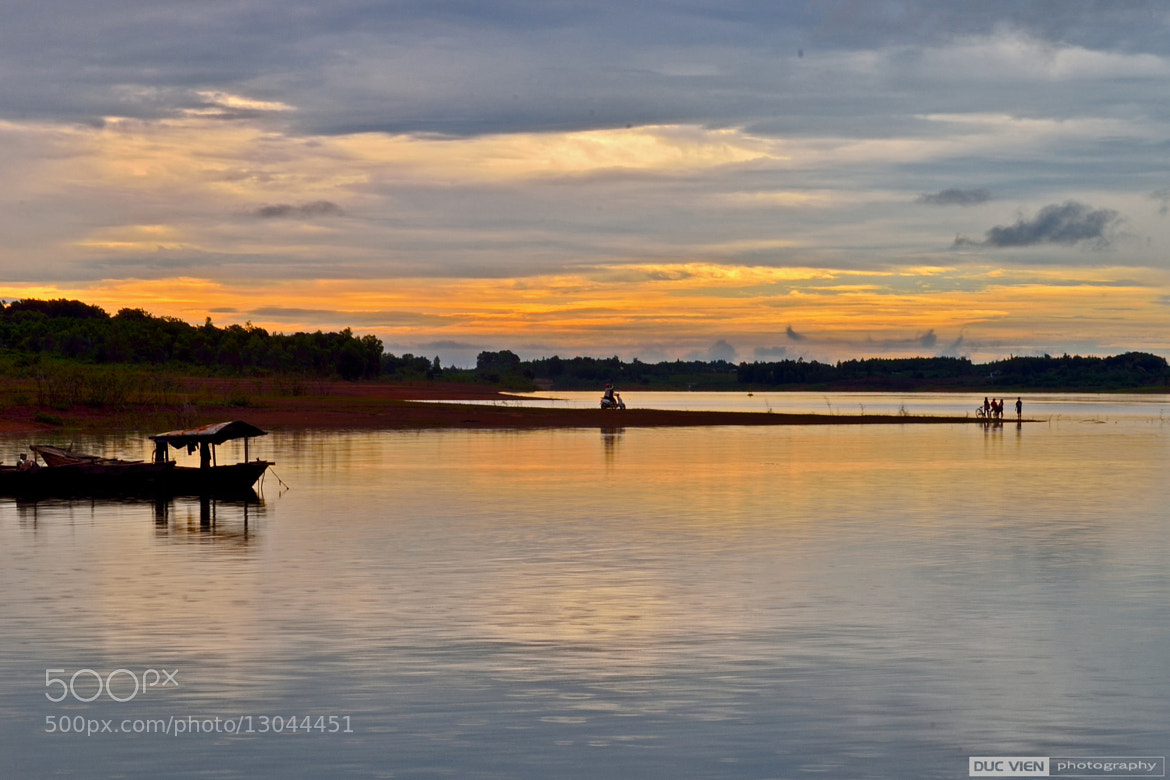 Photograph Sunset on lake by Duc Vien on 500px