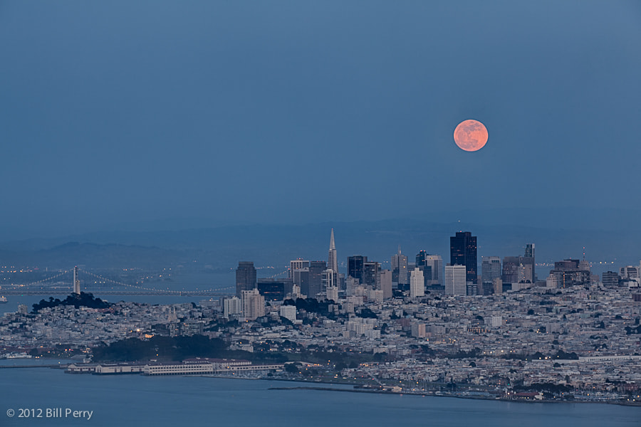 Photograph Supermoon over San Francisco by Bill Perry on 500px