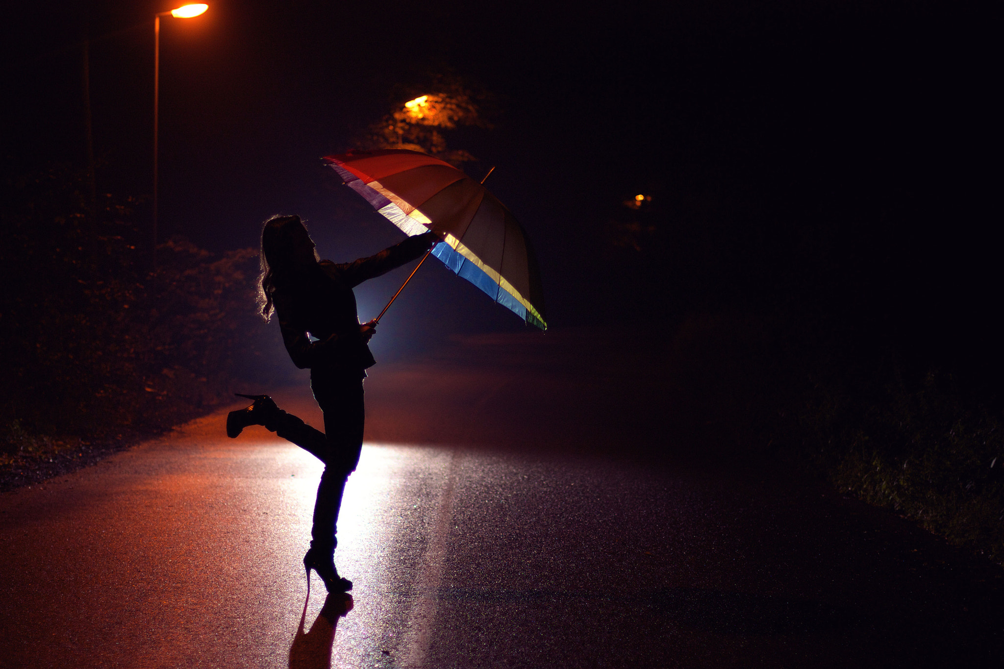 Photograph Girl in the night.. by Jozef Vaclavik on 500px