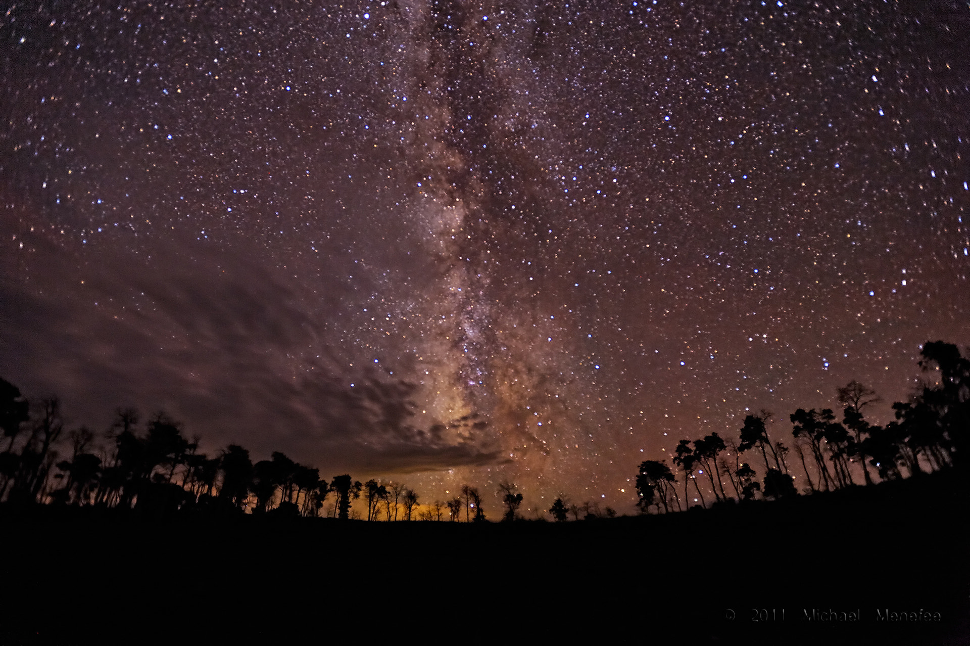 Photograph Seeing the Universe Above the Forest by Michael Menefee on 500px