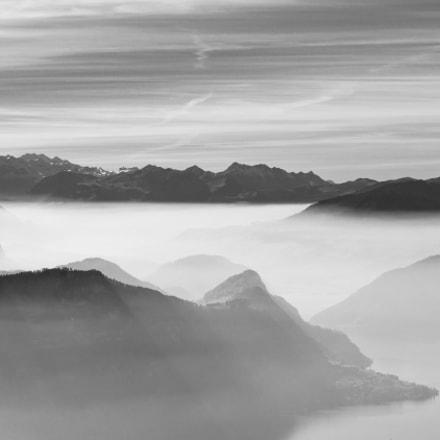 Mist over Lake Lucerne