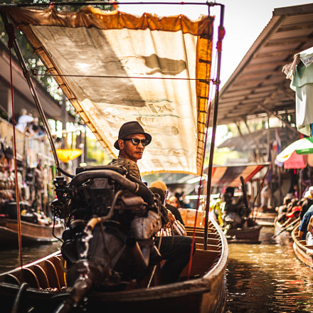 Men in Floating Market - Thailand