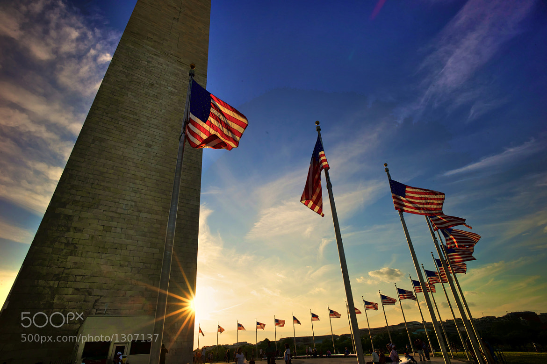 Photograph Washington Monument at Sunset by Mark Nunneley on 500px