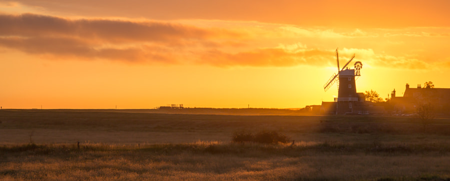 Norfolk Panorama - Sunrise over the Marsh by Richard Keeling on 500px.com