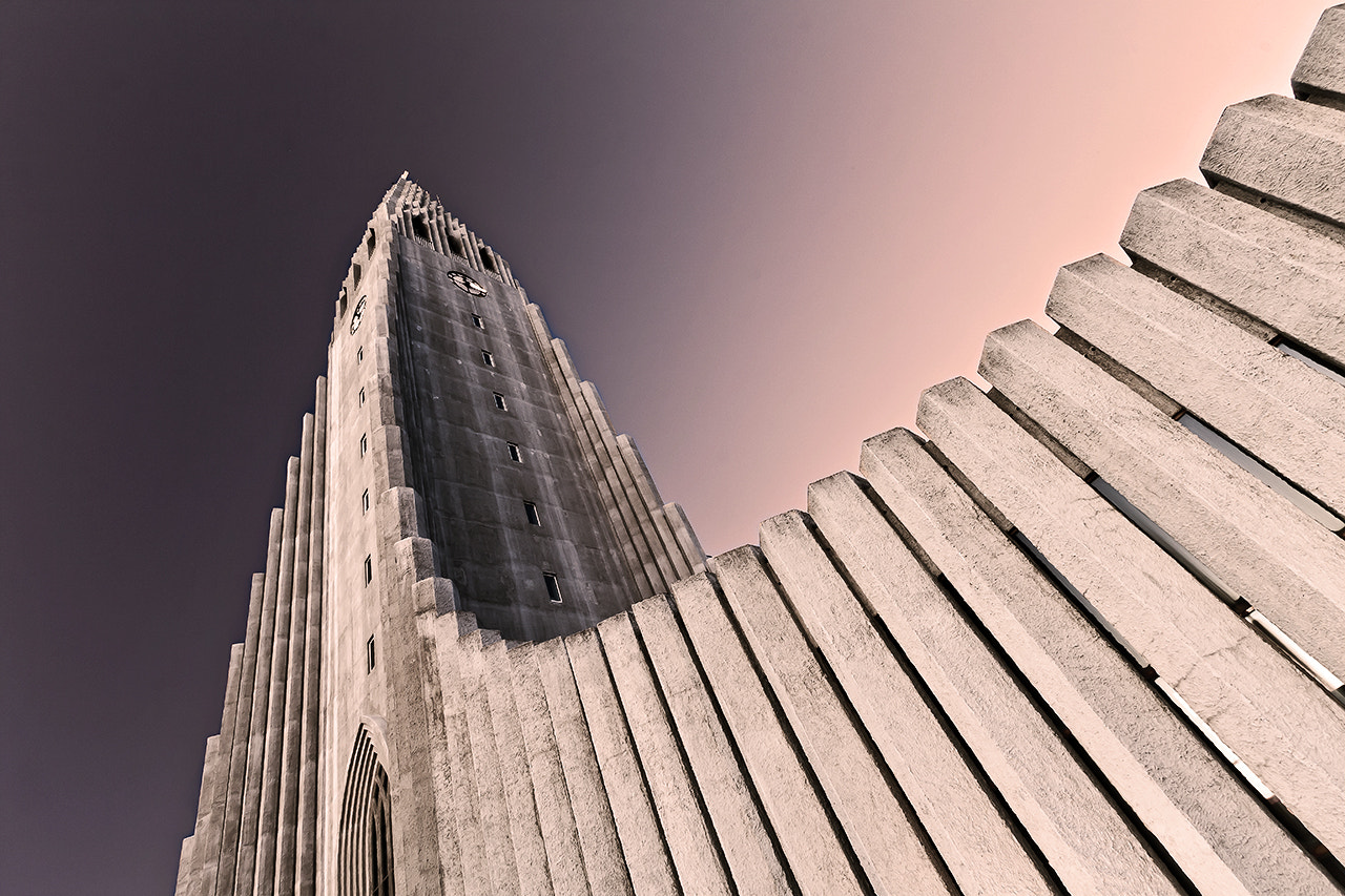 Photograph Hallgrimskirkja by night by Andreas Jonsson on 500px