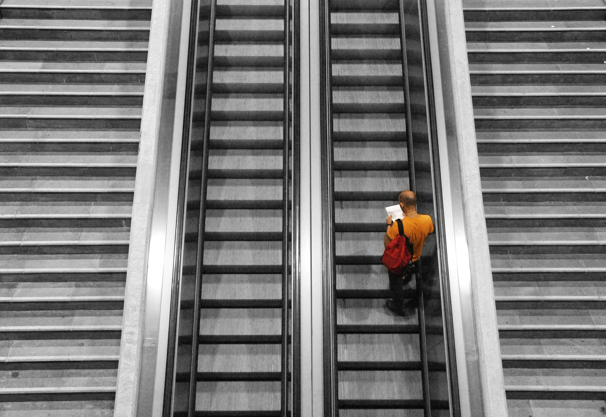 Photograph The Man in Orange by Manolo Toledo on 500px
