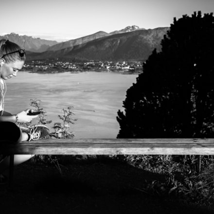 You coming? - Alesund, Norway - Black and white street photography