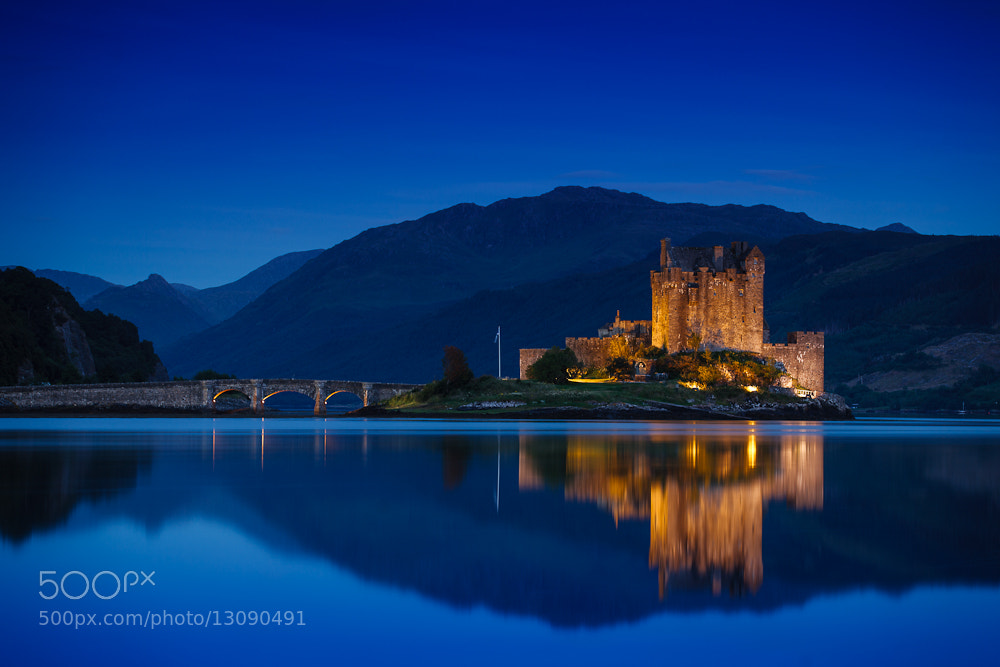 Photograph Eilean Donan Castle @Dawn by Thomas Mader on 500px