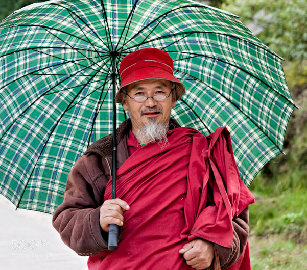 Photograph Monk with Umbrella by Dorothy Brodsky on 500px