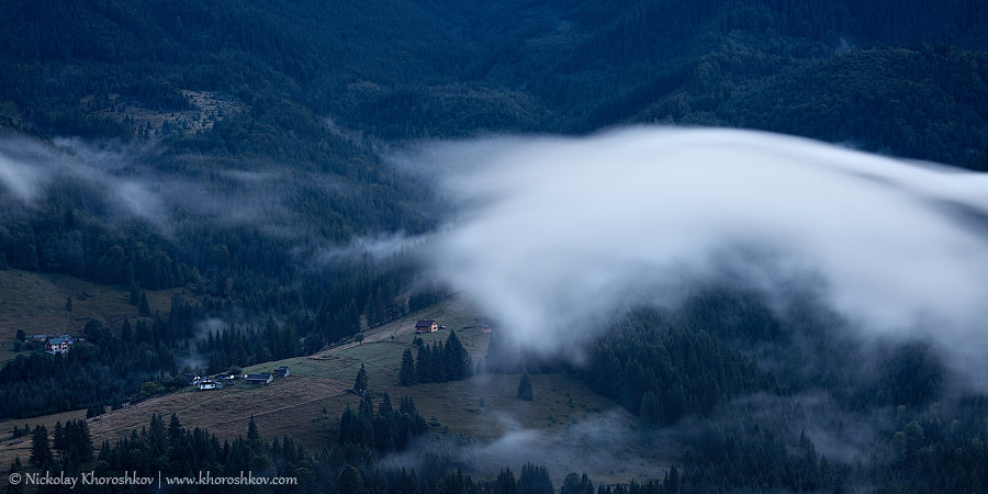 Photograph Foggy landscape of Carpathian mountains by Nickolay Khoroshkov on 500px
