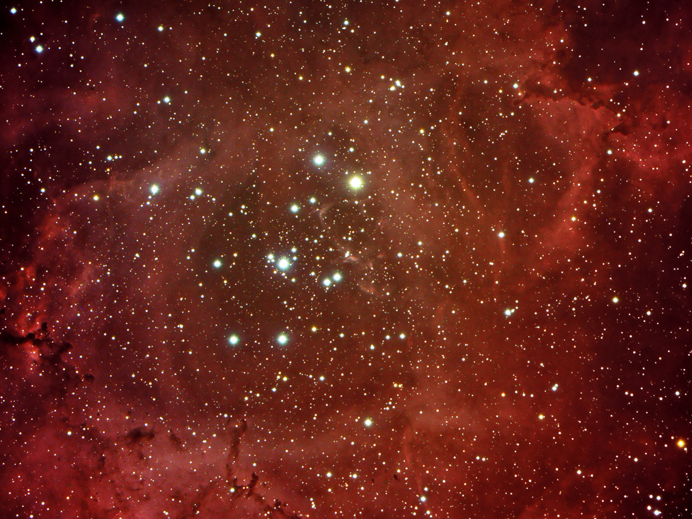 Photograph In the heart of Rosette nebula (NGC 2244) by Nicola Di Sario on 500px
