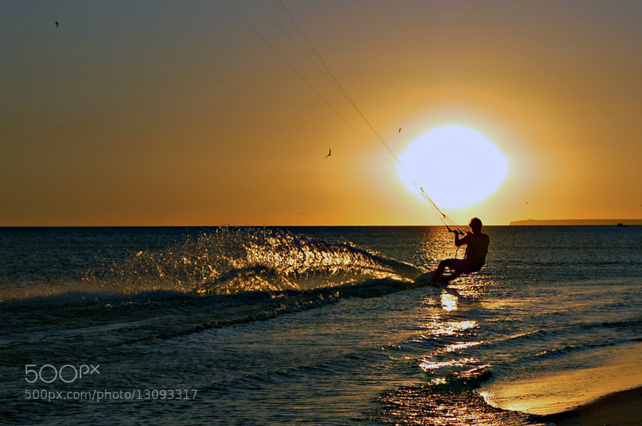 Photograph Kitesurfer by Longland  River on 500px