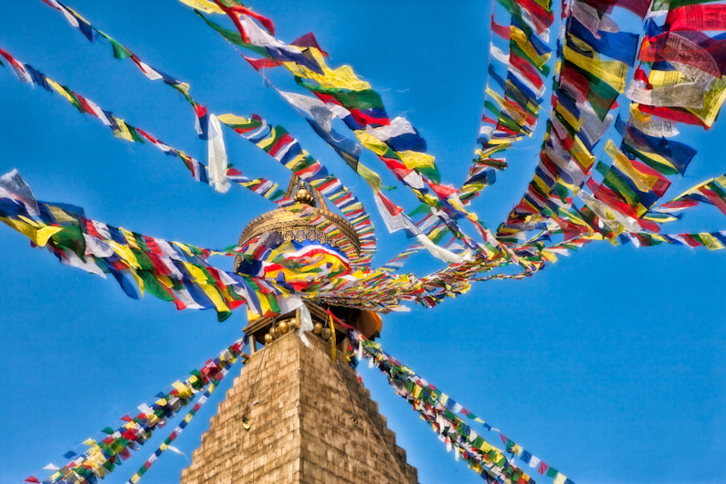 Photograph Prayer Flags Bodhnath Stupa  by Dorothy Brodsky on 500px