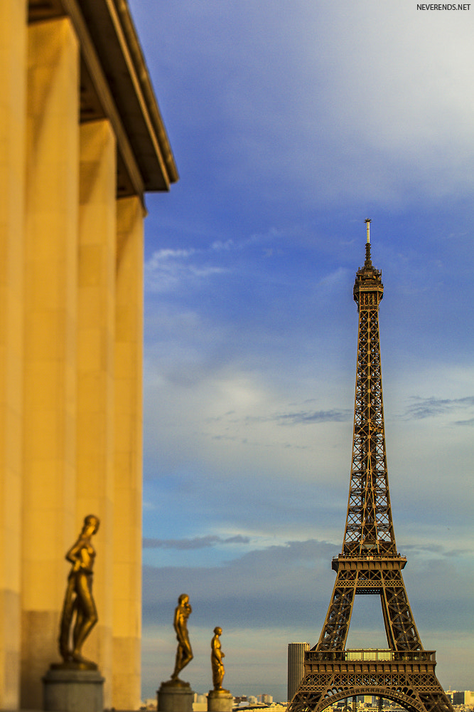 Photograph Eiffel Tower and sun by Diane DC on 500px