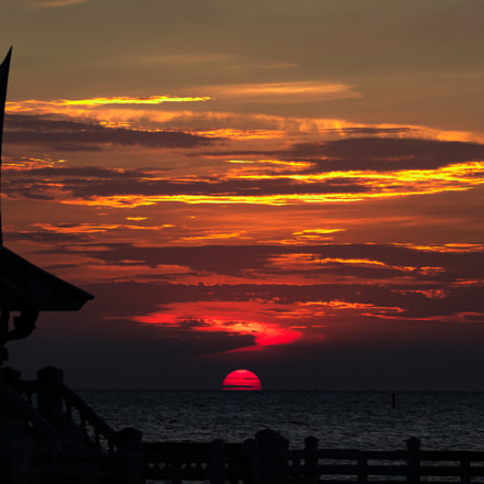 Bangsaen Sunset, Canon EOS 5DS R, Canon EF 200-400mm f/4L IS USM