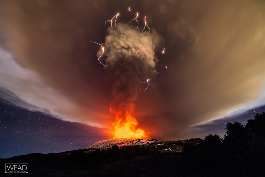 Dirty thunderstorm - Etna by marco restivo on 500px.com