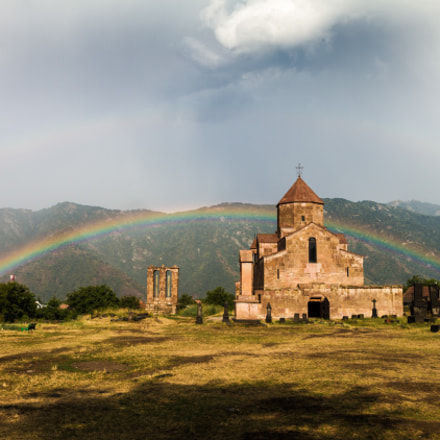 Church, rainbow