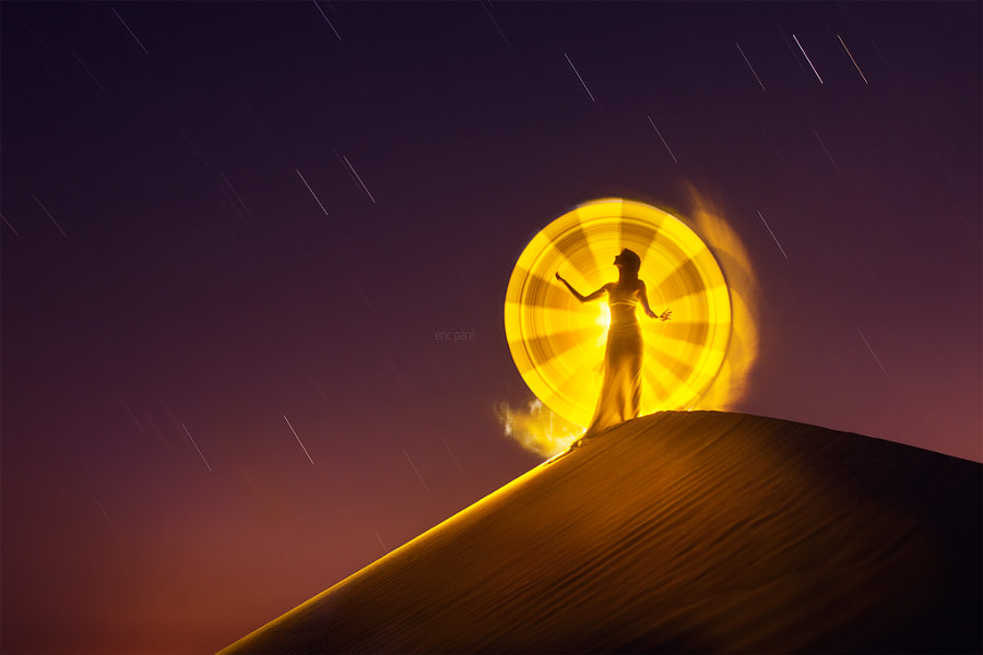 Desert light-painting by Eric  Paré on 500px.com
