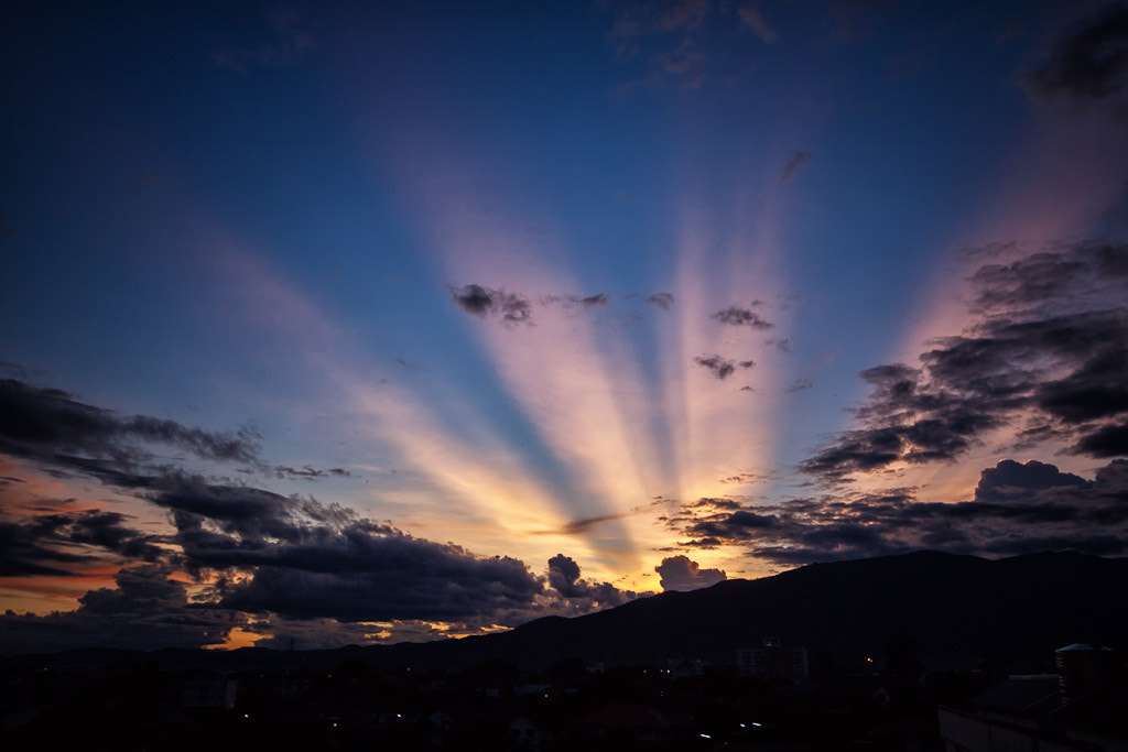 Photograph Chiang Mai Sunset Rays by Daniel Nahabedian on 500px