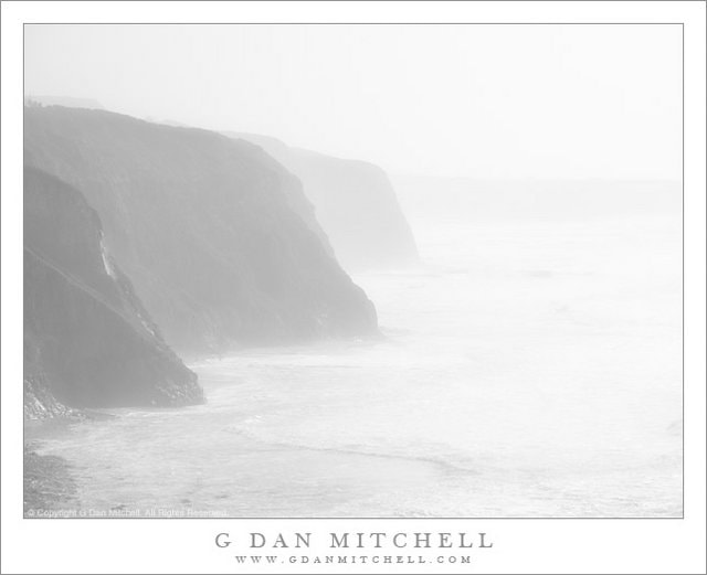 Photograph Cliffs, Surf, and Fog - California Coastline by G Dan Mitchell on 500px