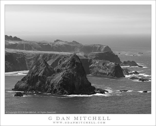 Photograph Island, Coastal Bluffs, and Distant Shore by G Dan Mitchell on 500px