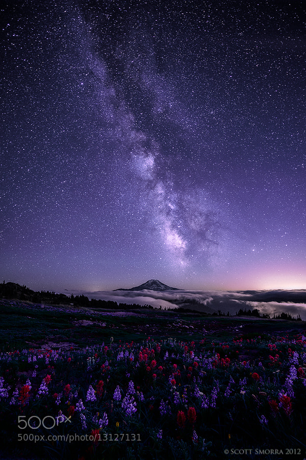 Long exposure milky way photo