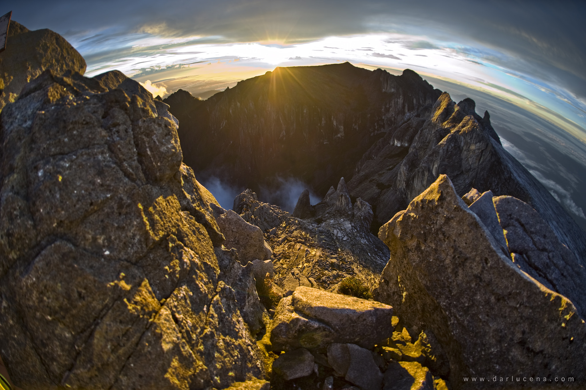 Photograph SUNRISE @ MT KINABALU'S LOW'S PEAK overlooking LOW'S GULLY 1800M DEEP or more by Darwin Lucena on 500px