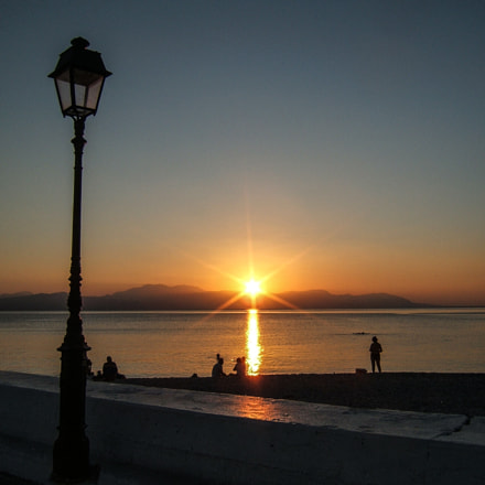 Evening in Loutraki, Greece, Fujifilm FinePix E500
