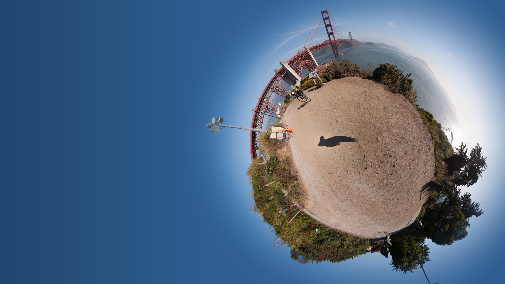 Photograph The Golden Gate Bridge from Fort Point: A 360 degree panorama by Rahi Varsani on 500px