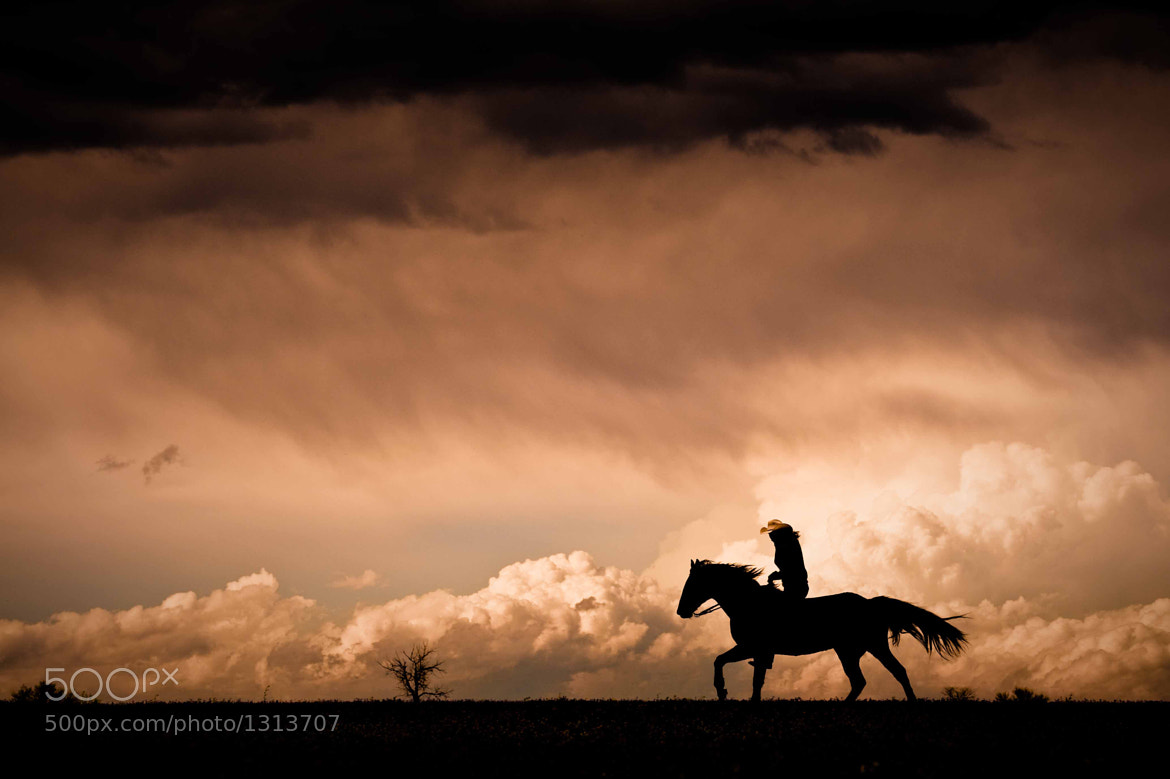 "Photograph ""Bareback in the Storm"" by Dan Ballard on 500px"