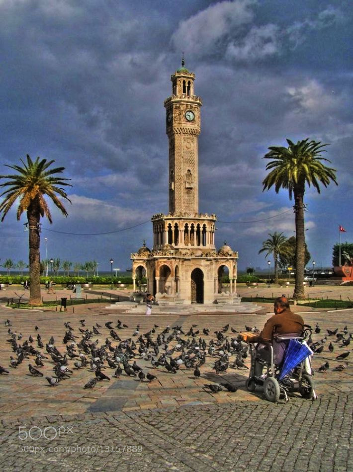 Photograph Man and birds by Metin Canbalaban on 500px