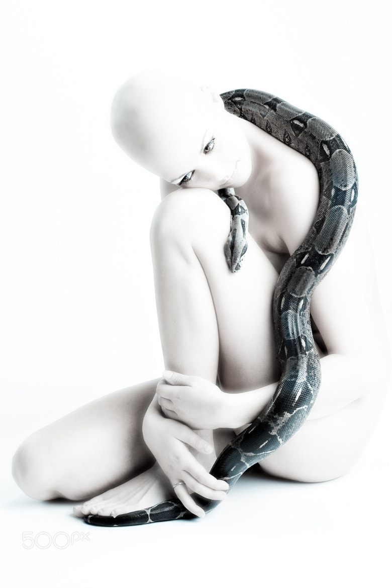 Photograph Girl with snake by Henrik Nielsen  on 500px