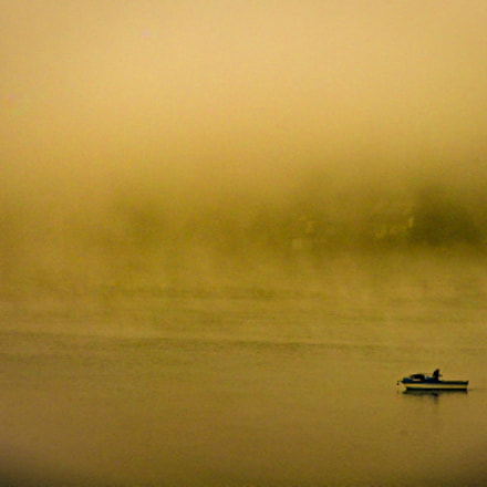 Fisherboat in Fog