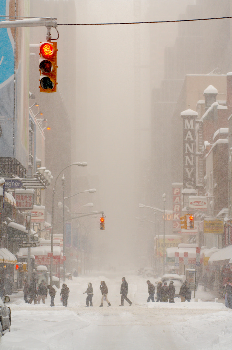 Photograph Blizzard, NYC by Tomas A. on 500px