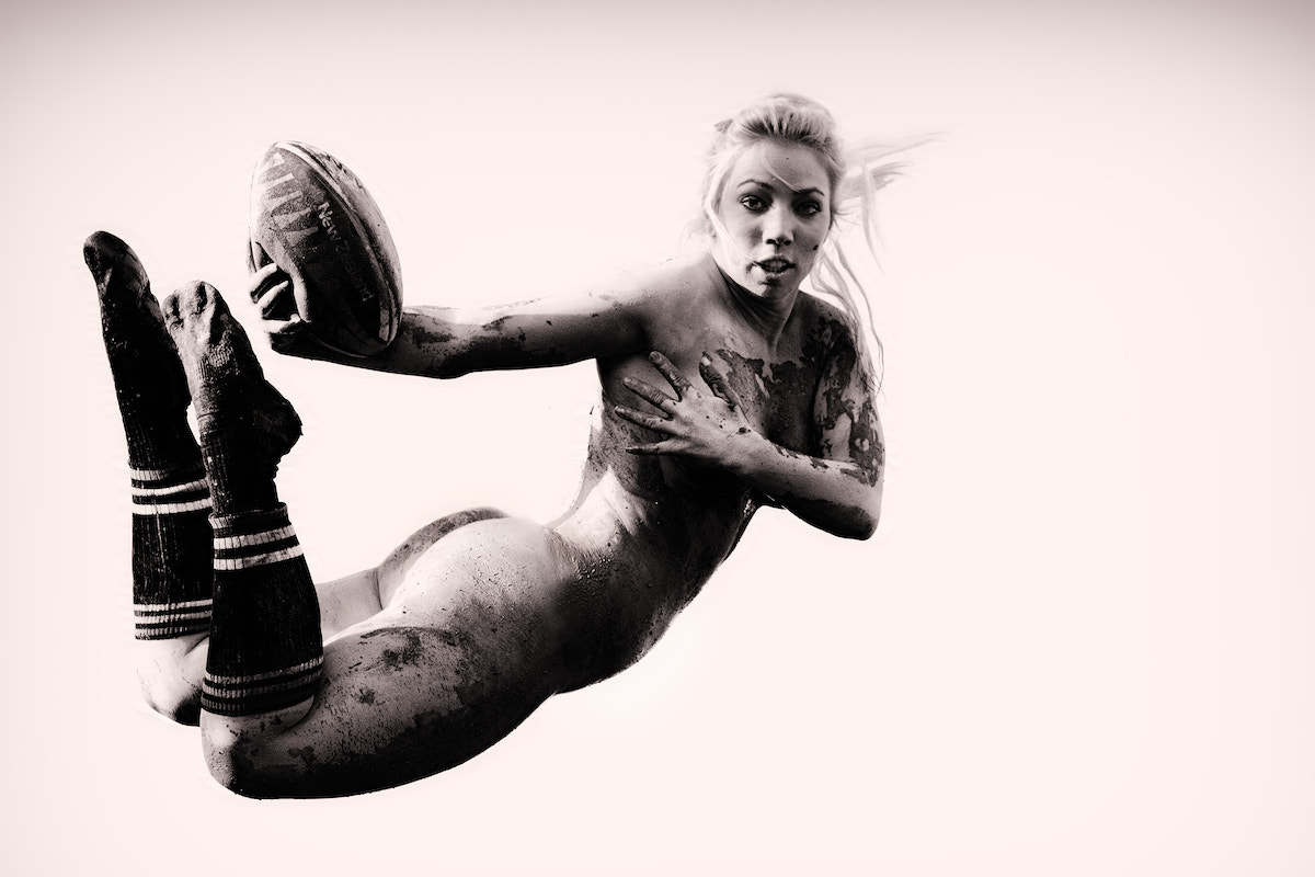 Photograph Female rugby player in the air... by Gaston Trussi on 500px