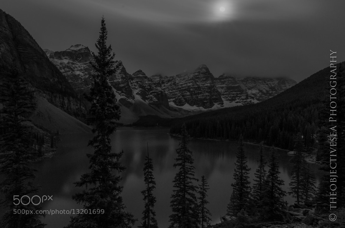 Photograph Moraine Lake Monochrome by Kevin Smith on 500px