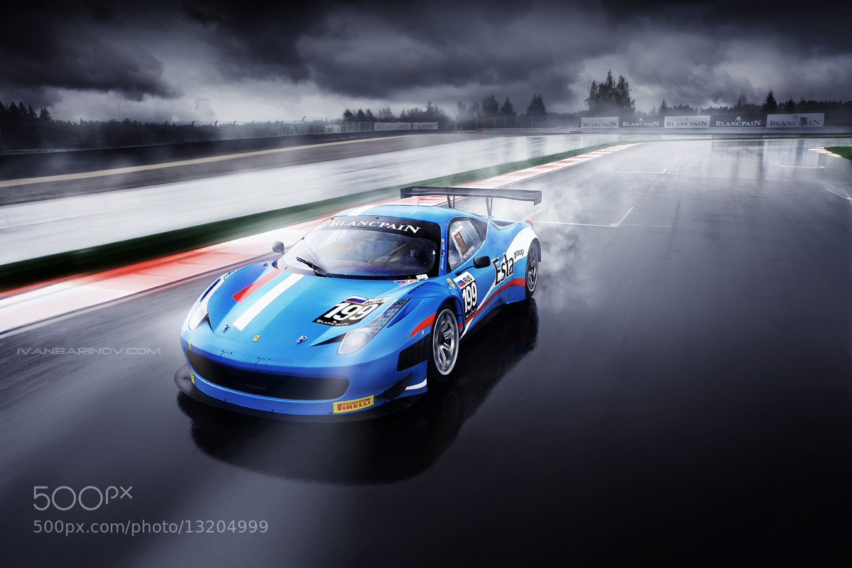 Photograph Ferrari 458 Italia GT3 by Ivan Barinov on 500px