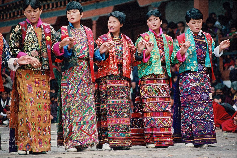 Photograph bhutanese dancers by helmut flatscher on 500px