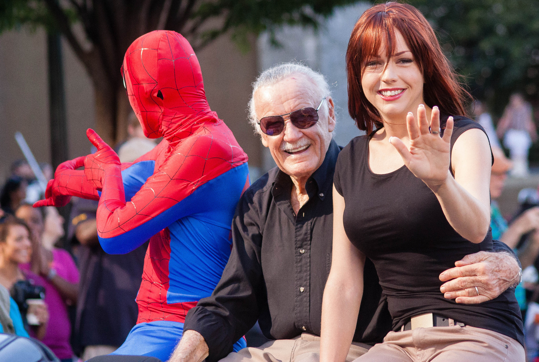Photograph Stan Lee and Spiderman at Dragon Con by Beth Blackwell Cullen on 500px