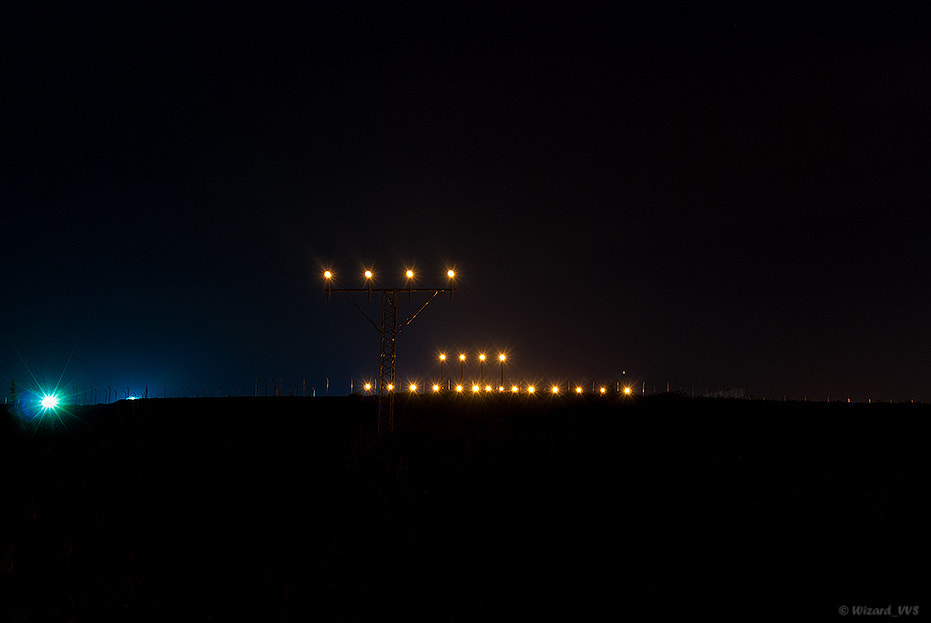 Photograph Airport's lights by Vladimir Sergeyev on 500px