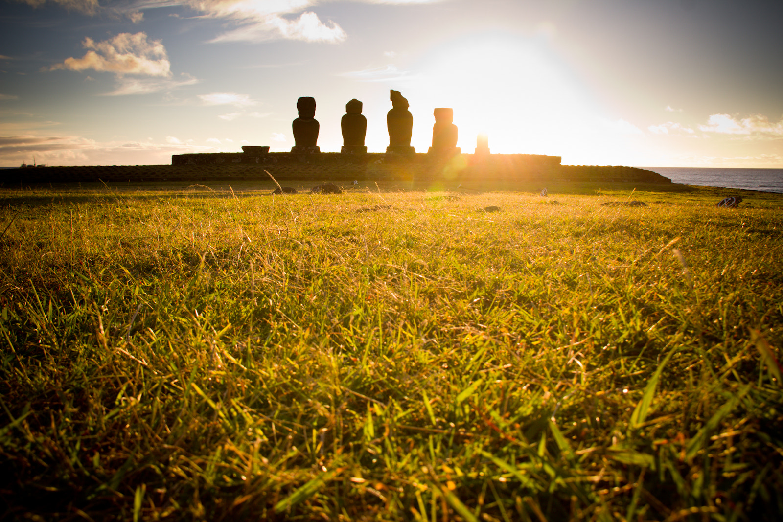 Photograph Sunset Moai by Emily Benjamin on 500px